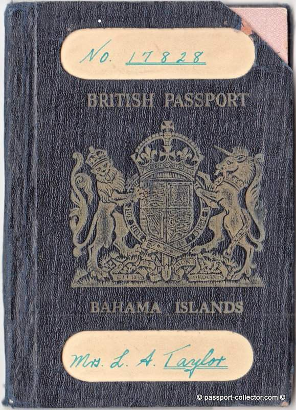Bahama Island Passport 1945
