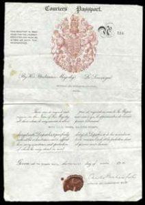 World War II British Courier's Passport - Charles Bonham-Carter