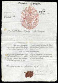 World War II British Courier's Passport – Charles Bonham-Carter