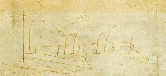 Passport signed by Elizabeth I, Queen of England 1595