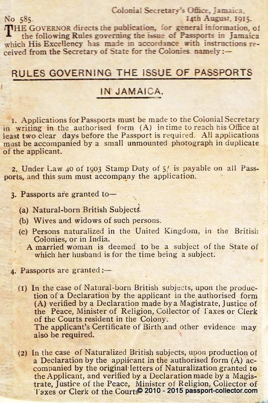 Black British Passports Refering Mainly To British Colonies