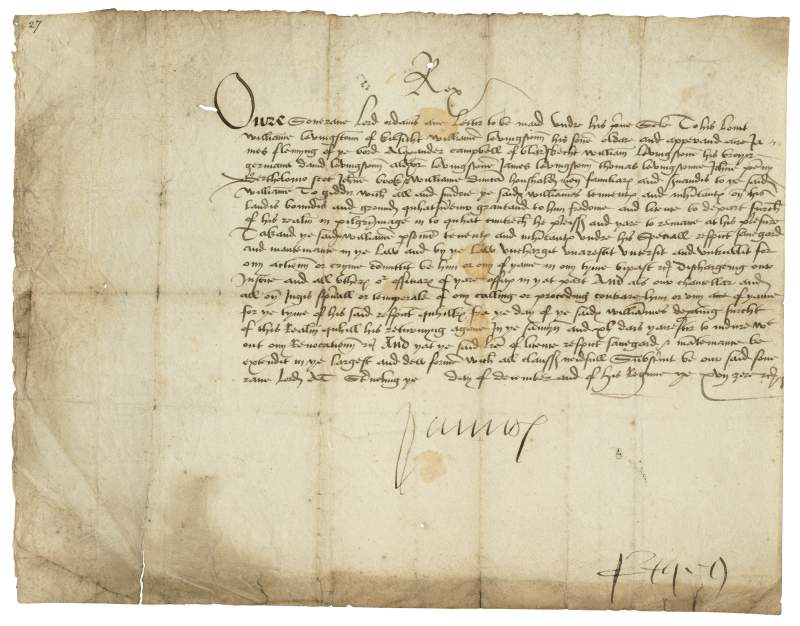 James V Scots passport