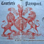 British King's Courier Passport Of Ernest Frederick Gye