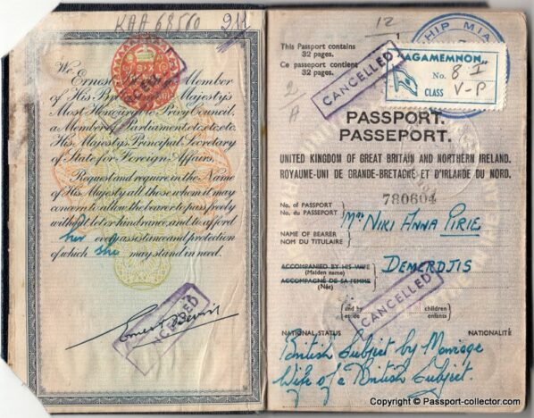 British Passport Secret Service