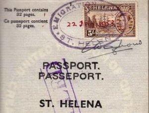 British Passport 1953 - The Island of St. Helena - Very rare