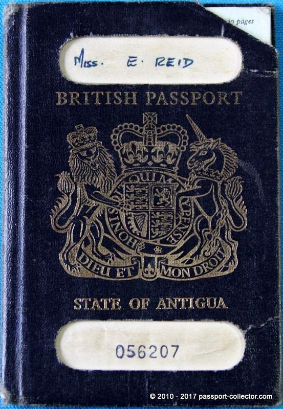 British Passport - State of Antigua, including revenues - A rare find!