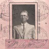 The passport of a Geologist and Lieutenant in WWI