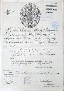 British Diplomatic Passport For Attache Nigel Law 1914