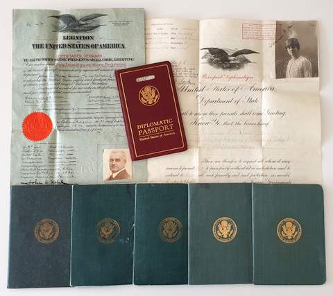 US Diplomatic Passports of Consul John E. Kehl