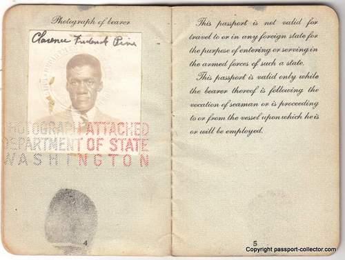 Rare African American WWII Seaman Passport