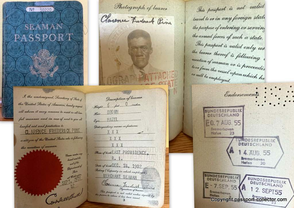 African American Seaman Passport