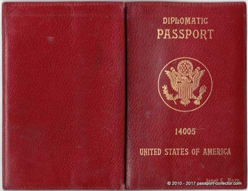 US Diplomatic Passports 1952