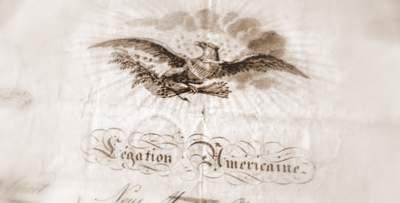 US Legation Paris passport 1814 Talleyrand