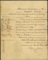 Handwritten Passport - US-Consul Robert Monroe Harrison, Jamaica 1835