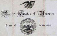 United States Of America - State Of Louisiana Passport
