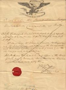 Rare US Group Passport 1852 - Consulate Malta - William Winthrop