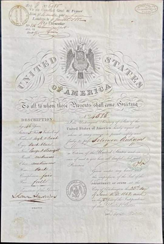 Aeronaut Inventor passport Andrews