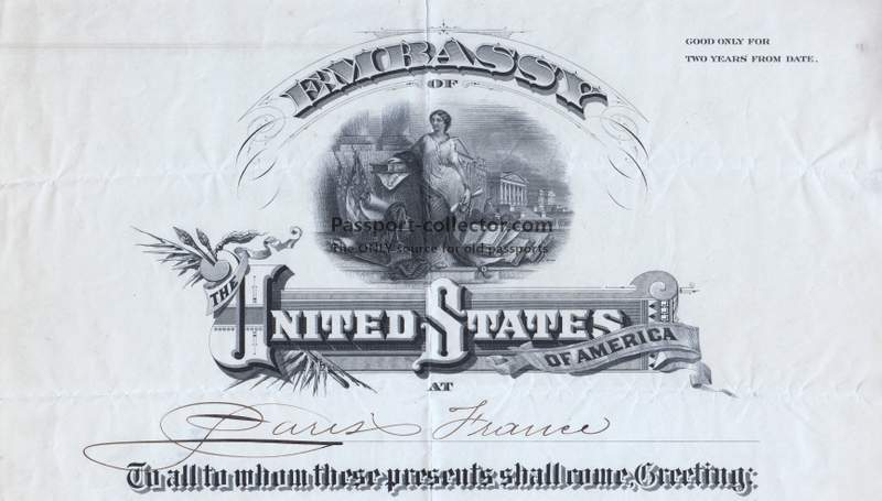 US Passport Embassy Paris 1900