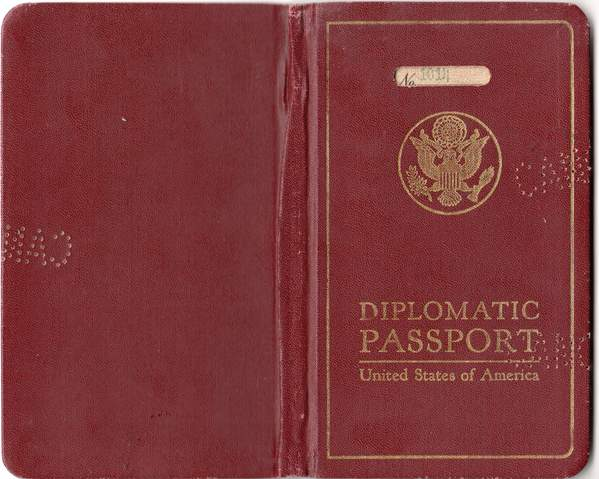 The Diplomatic Passport Of US-Consul Fishers Wife 1931