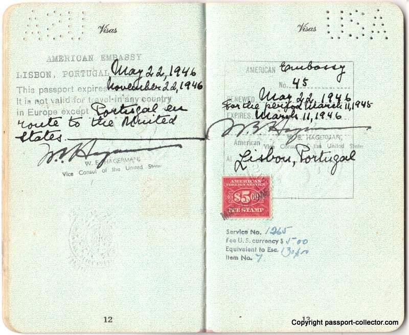 US Consulate Lisbon 1943