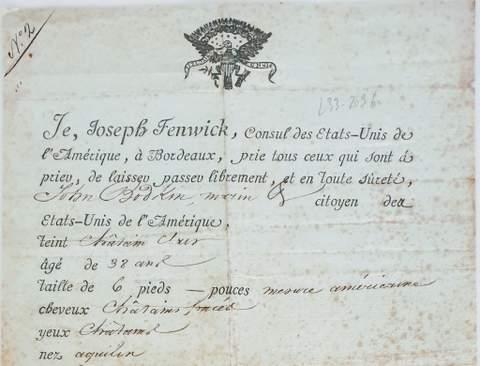Joseph Fenwick – First consular post in US History