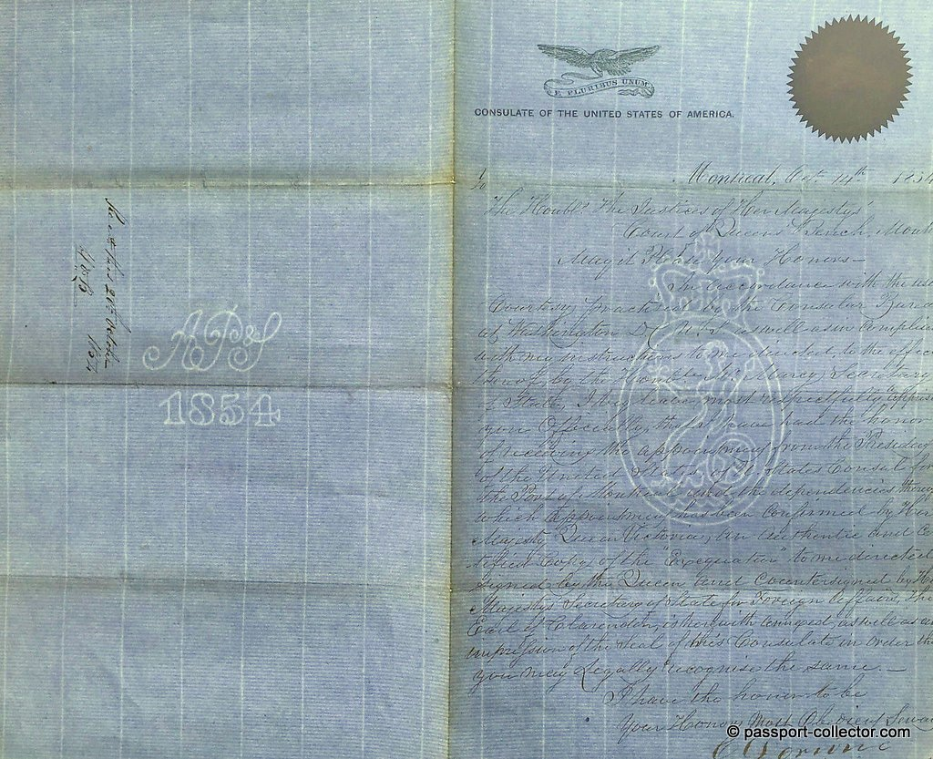 Watermarks in the consular paper