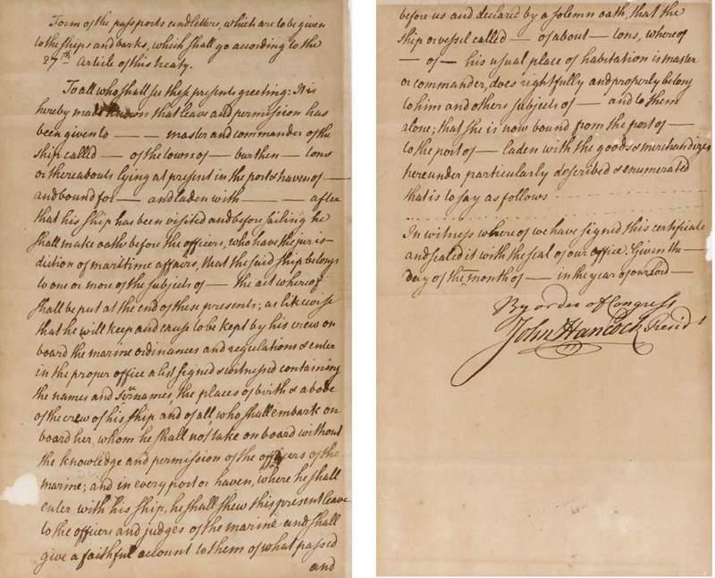 John Hancock Congress Manuscript
