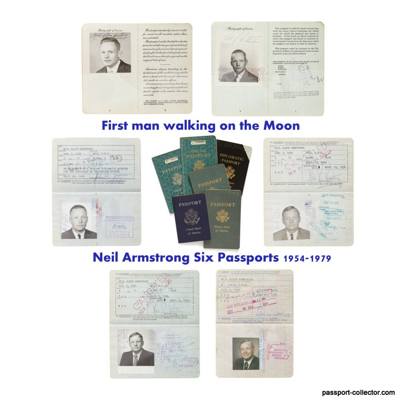 Neil Armstrong US passports