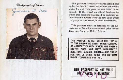Two passports of an USAF soldier in Middle East