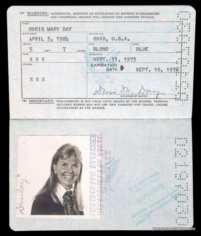 Passport Doris Day Auction