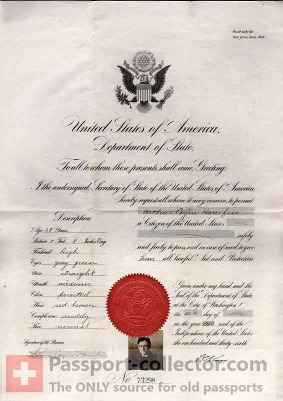 United States Passport 1912