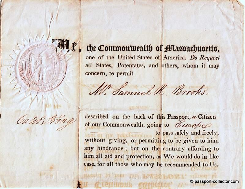 Commonwealth of Massachusetts Passport