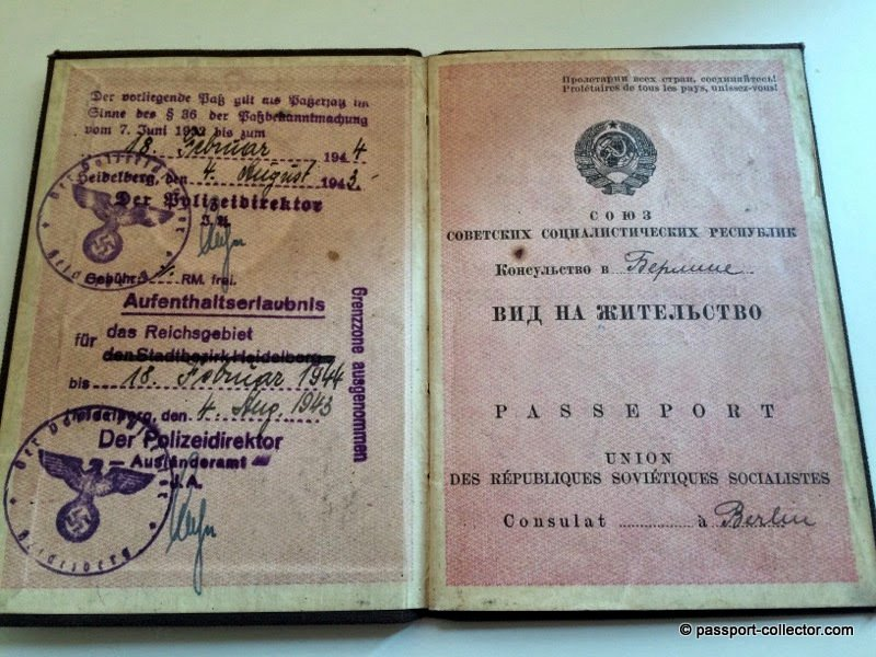 USSR Passport for Mother and Son issued in Berlin 1934