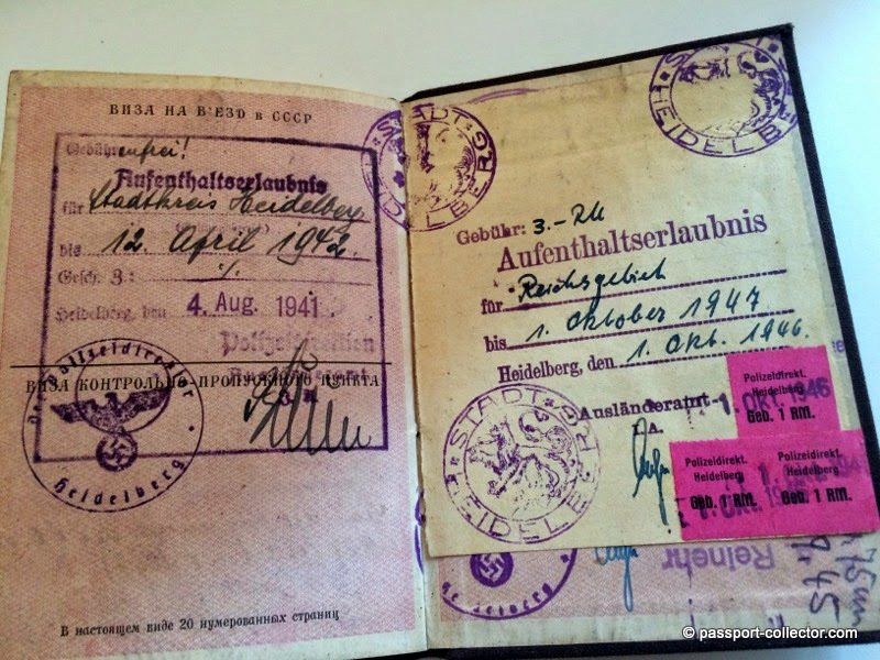 Residence permit stamp germany