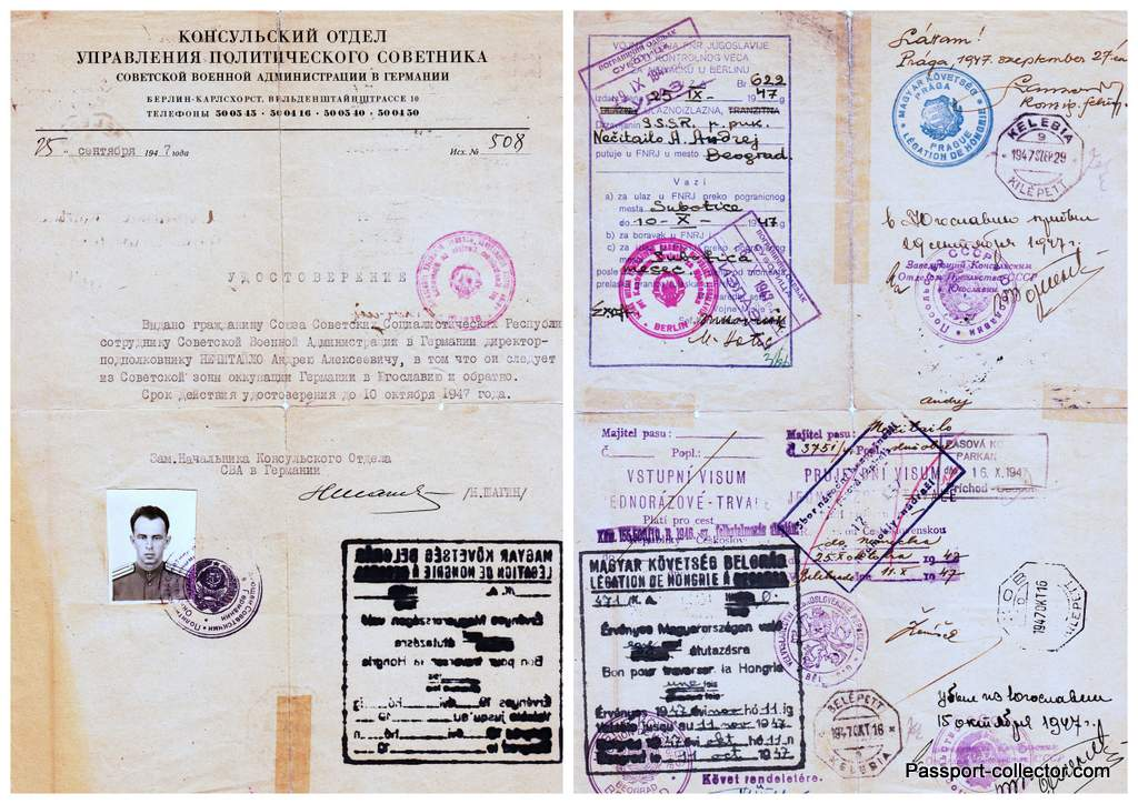 Document Soviet Occupation Berlin