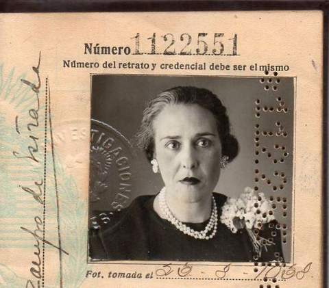 The passport of Argentinian writer Victoria Ocampo