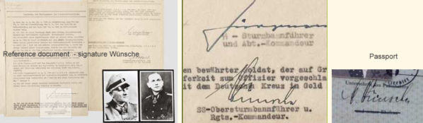 Passport of Hitler's personal aide and SS commander - Max Wünsche