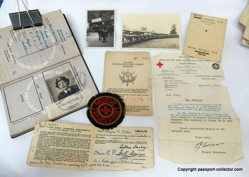 ID-Documents WWII Ambulance Driver