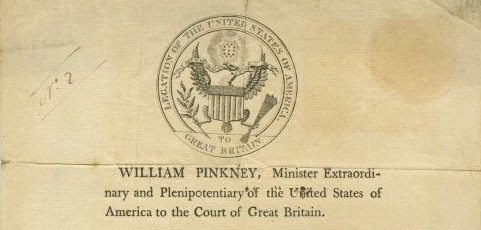 William Pinkney – US Minister in Great Britain – Signed Passport 1807