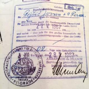 Yugoslavian Large Collective Passport For 10 Persons