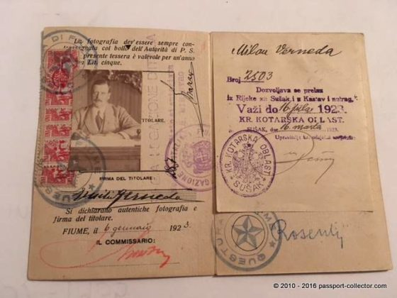 Ever heard of a Fiume Passport?