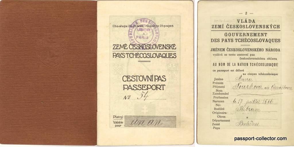 unusual Czechoslovak passport courier