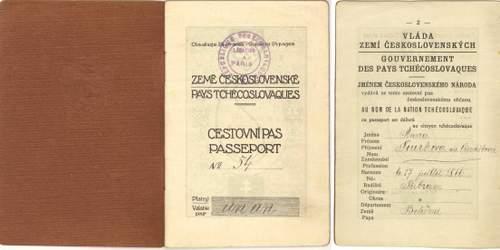 An unusual Czechoslovak passport for a courier