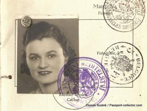 A unique Bohemia and Moravia Passport 1939