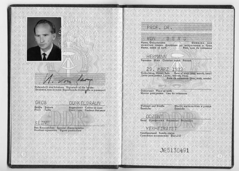 GDR Diplomat Secret Spy